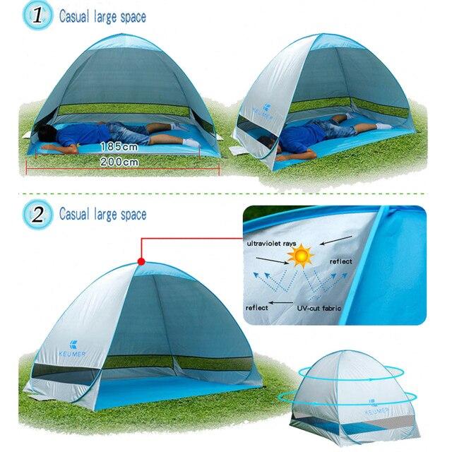 אוהל חוף מתקפל ופתיחה אוטומטית 2