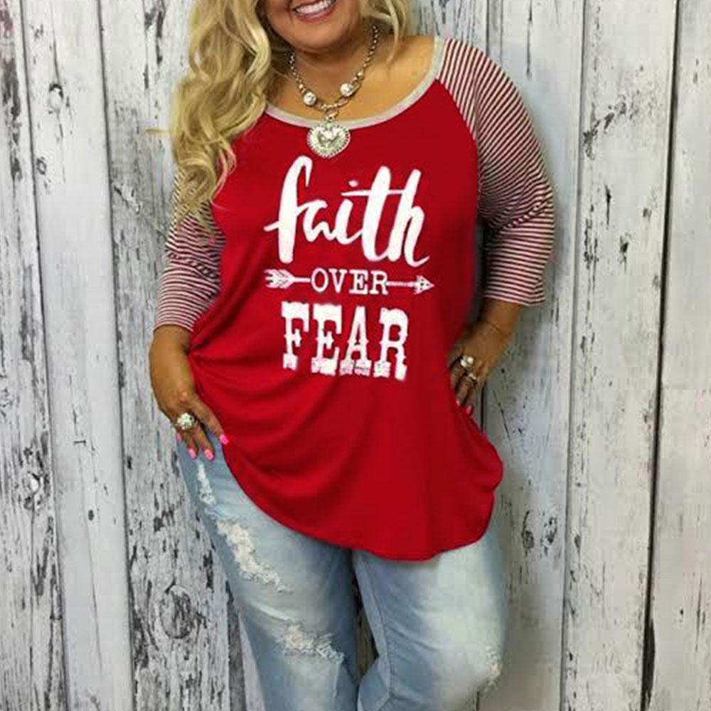 c8454f13 Plus Size Women Baseball T Shirt Letter Printed O Neck 3/4 Raglan Sleeve  Soft Casual Loose Tee Ladies Oversize Tops 5XL-in T-Shirts from Women's  Clothing on ...