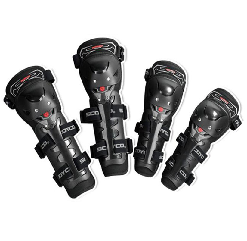 4 pièces/ensemble Scoyco marque mise à niveau moto genou protecteur cyclisme coude garde Motocross Rodilleras