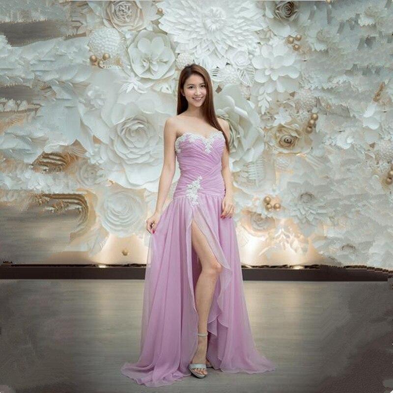 lavender Women sweetheart Evening Dresses 2018 New Arrival Long ...