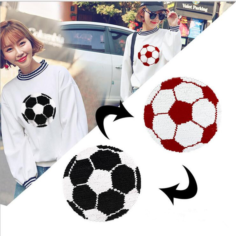 Football Patch Embroidered Soccer Ball Badge Iron Sew On T Shirt Bag Jeans Top