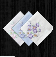 Lady Big Sweat Cotton Handkerchief Embroidered Double Thick Cotton Towel Handkerchief Paragraph