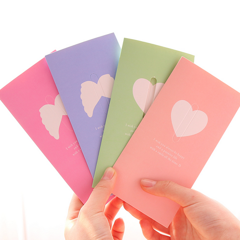 Hot 2 Pcs Cute Love Confession Blessing Creative Folding Greeting – Creative Birthday Card Messages