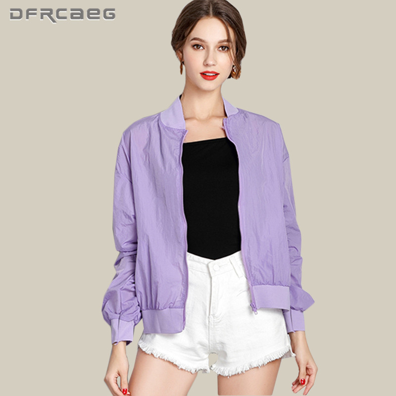 Summer Womens Sun Protection Jacket 2018 Summer Letter Embroidery Sunscreen Ultra Thin Coats Casual Perspective Clothing White