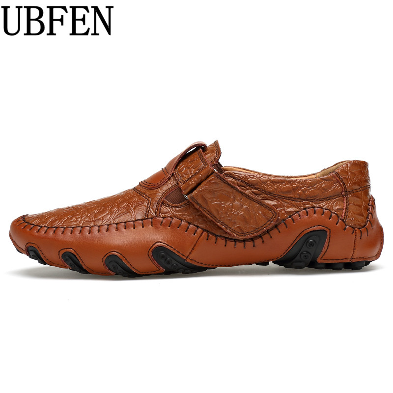 2017 UBFEN Hot Sale Big Size Men Genuine Leather Shoes Slip On Casual Shoes For Men Loafers Male Moccasins Shoes Designer Shoes ceyue new genuine leather men casual shoes cowhide driving moccasins slip on loafers men hot designer shoes flats big size 38 47