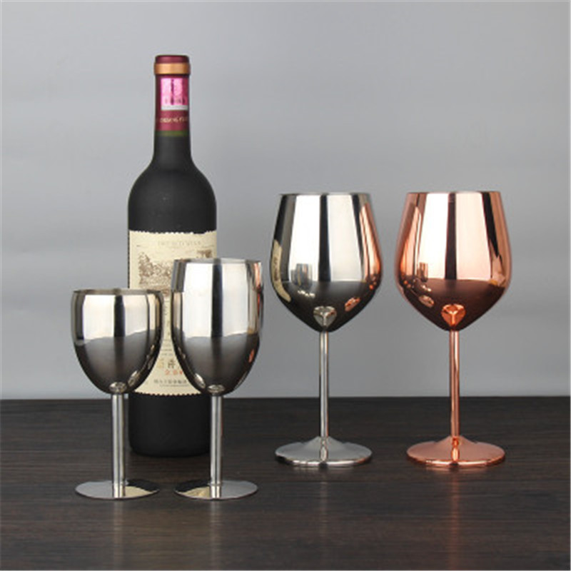 Gloss Metal Champagne Flutes Creative Stainless Steel For Weddingpartyred Wine Gl Of Brandy Goblet Gles Bar Supplies In From Home