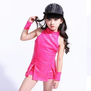 Image 3 - بدلة للرقص للأطفال لموسيقى الراقصة من ماركة سونغيوكسيا بدلة رقص هيب هوب للأطفال ملابس للرقص عصرية براقة ملابس للرقص ملابس للتشجيع للفتيات