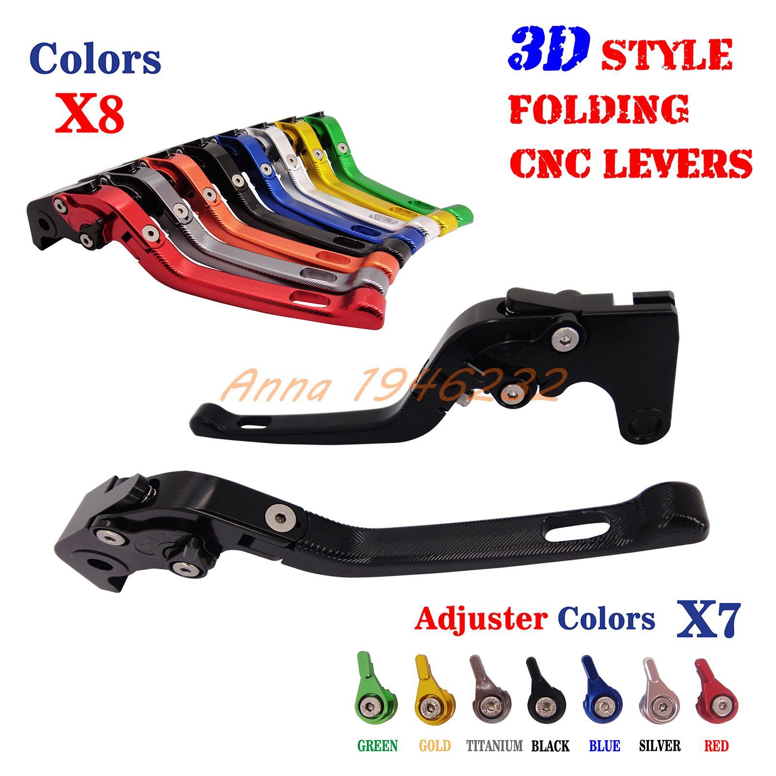 CNC 3D Style Folding Adjustable Brake Clutch Lever For Yamaha XJR400 1993-2007 FZ400 1997 FZS600 Fazer 1998-2003FZS 600 NEW 04 05 06 07 08 09 10 11 12 13 14 new cnc short straight adjustable brake clutch lever for yamaha majesty 400 t max 500 t max 530