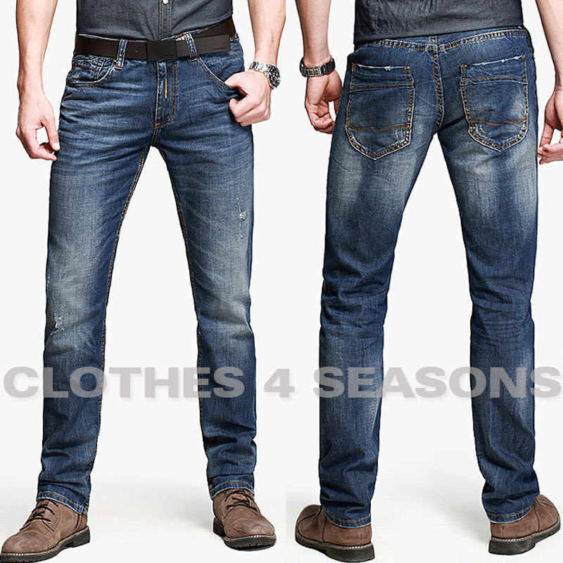 hot sell 2014 skinny jeans men fashion jeans mid rise