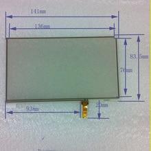 Pulgadas de cuatro hilos táctil resistiva 141 * 83.5 accesorios de navegación GPS Newman S6000TV S6800TV 6 pulgadas