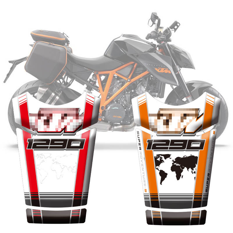 Motorcycle Stickers Fuel Tank 3D Rubber Sticker Fishbone Protective Decals For <font><b>KTM</b></font> <font><b>1290</b></font> <font><b>Super</b></font> <font><b>Adventure</b></font> <font><b>S</b></font> 2017 2018 <font><b>2019</b></font> image