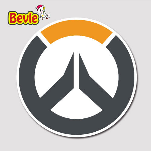 Bevle 9100 OW Shooting Game Sign Fashion Sticker Notebook Waterproof Tide 3M Sticker Fashion Skateboard Car Graffiti