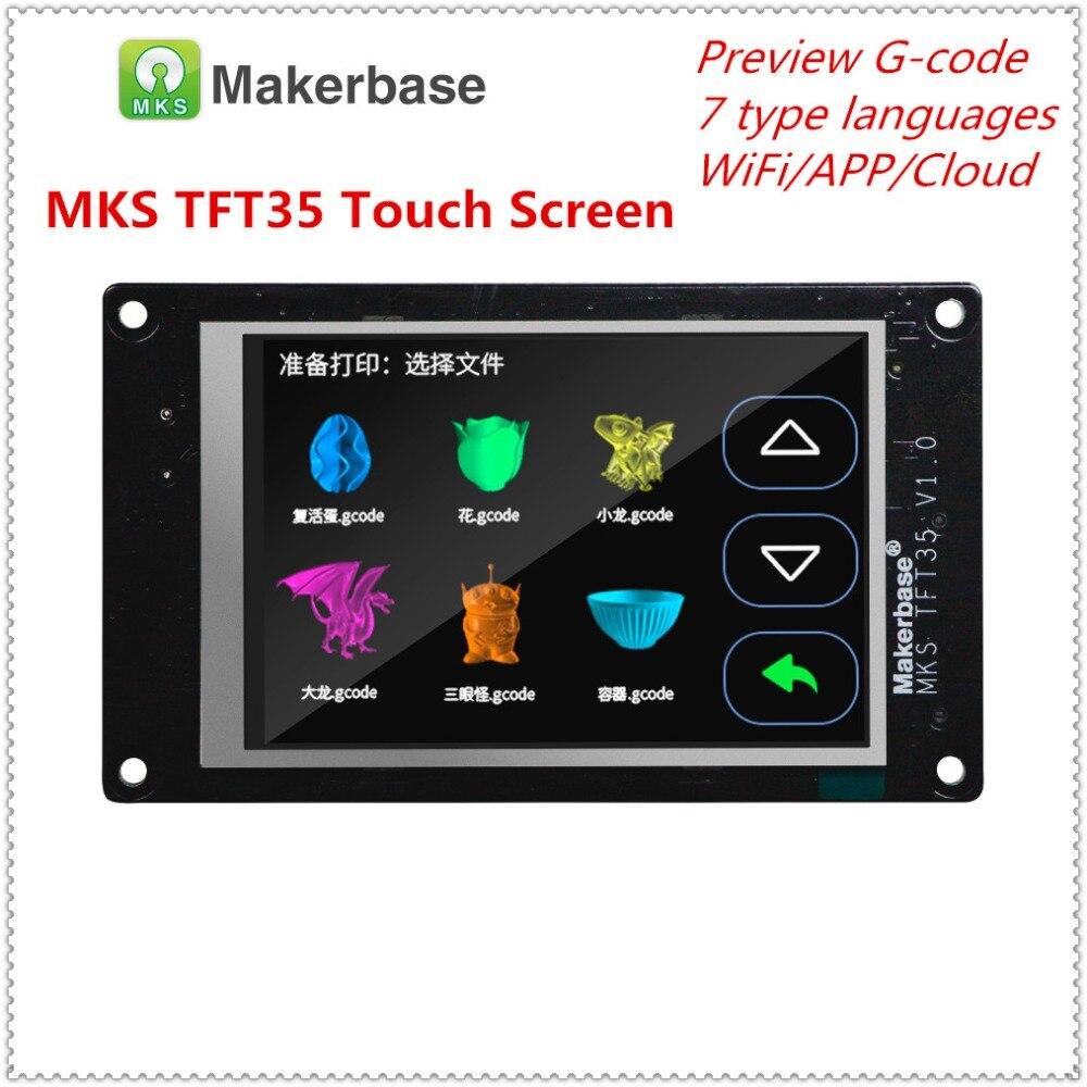 Nouveau 3d imprimante affichage MKS TFT35 V1.0 écran tactile 3.5 pouces LCD panneau 3.5 ''TFT moniteur polychrome creen coloré displayer - 2