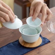 TANGPIN ceramic gaiwan 3 cups a tea sets portable travel tea set drinkware
