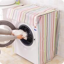 Impresión transparente raya Fundas para lavadoras organización almacenamiento gadgets impermeable fácil de limpiar hogar suministros