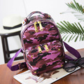 Fashion Camouflage Backpack Women Backpacks Mini Girls School Bags for Girls Black PU Leather Women Backpack