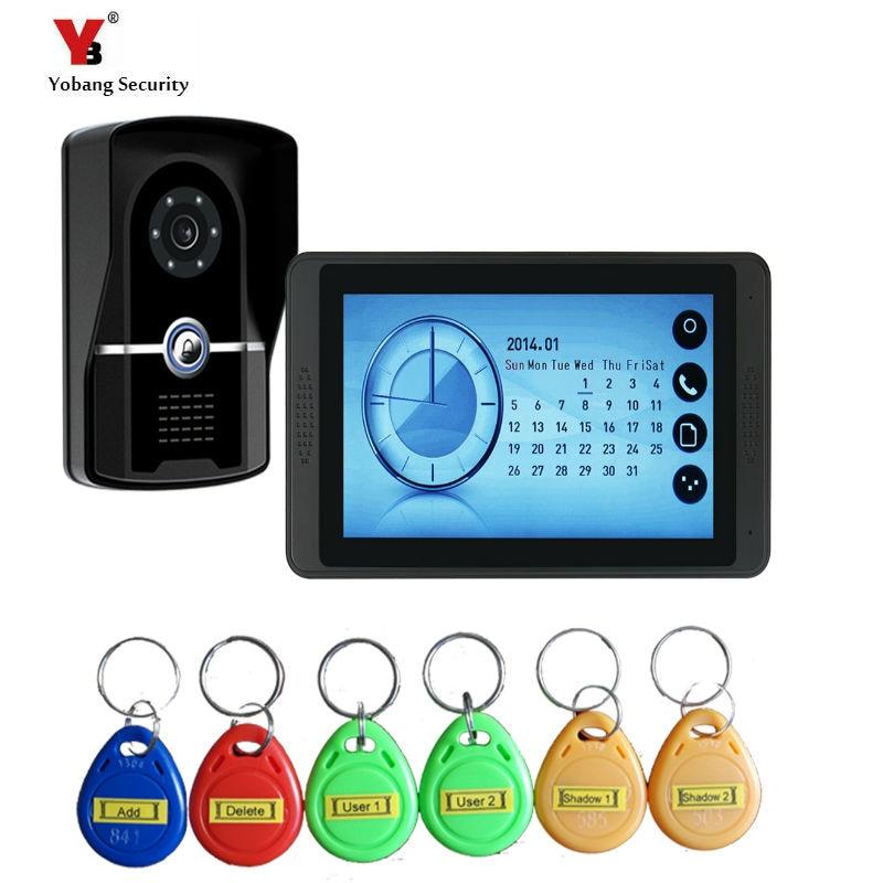 Yobang Безопасность Видео домофон Handsfree ночного видения дверь камера колокол цветной сенсорный монитор 7 дюймов громче динамик видео Interco - Цвет: 620FGID11