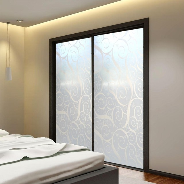 45x400cm Bathroom Glass Film Window Paper Balcony Sliding Door Translucidus  Transparent Waterproof Stickers