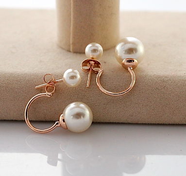 Two Wear Way Pearl Stund Earrings Gold Color Earring Jeakcts A9158 23 On Aliexpress Alibaba Group