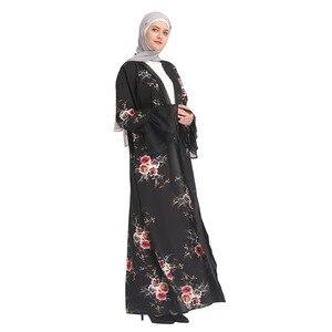 Image 2 - Chiffon Abaya Turkey Hijab Muslim Dress Kaftan Dubai Abayas For Women Qatar Ramadan Caftan Marocain Jilbab Robe Islamic Clothing