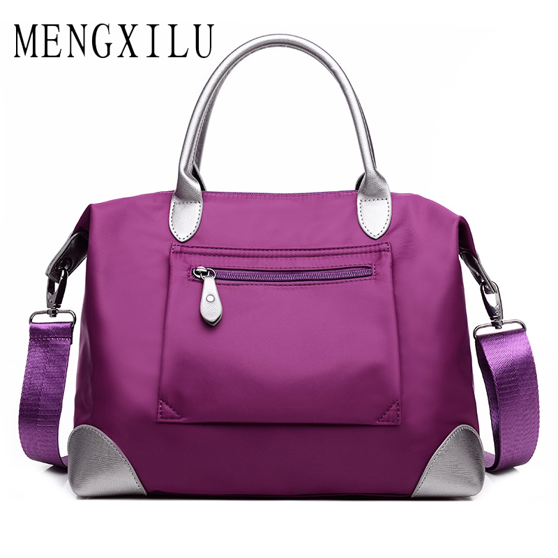 MENGXILU Women Shoulder Bags Ladies Nylon Handbag Travel Casual Tote Bag Leisure Fashion Original Waterproof Bags Bolsos Mujer цена
