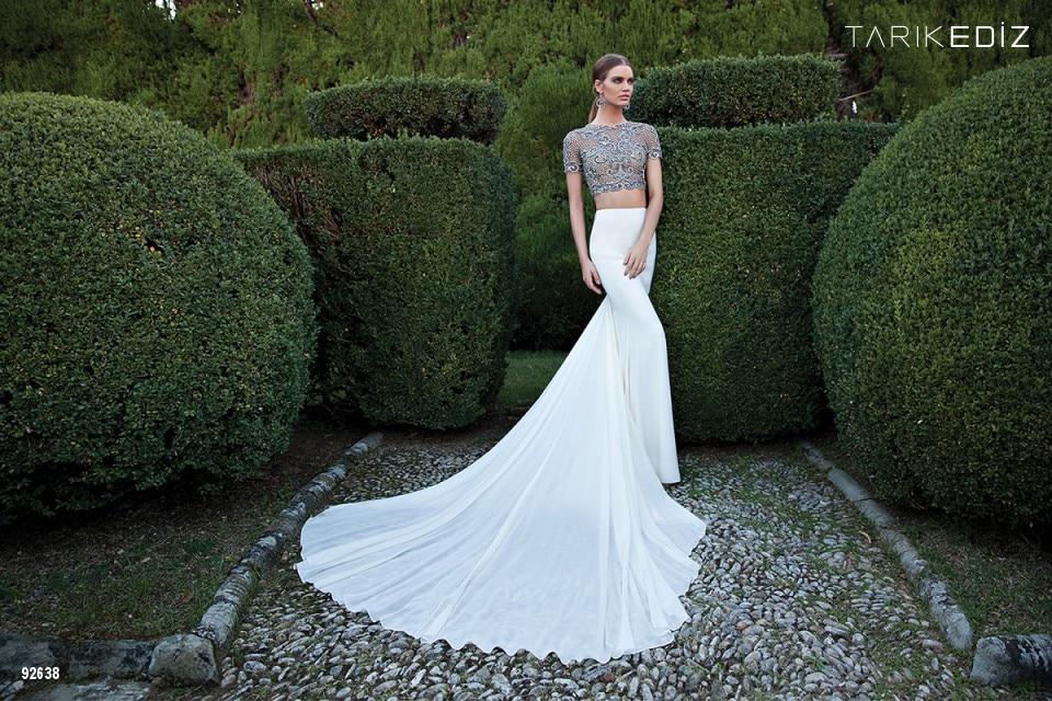 Two piece maxi dress formal