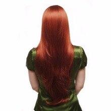 Dlme жаропрочных Длинные прямые оранжевый красный полная химическое Кружево Искусственные парики Glueless для американский черный Для женщин половины руки