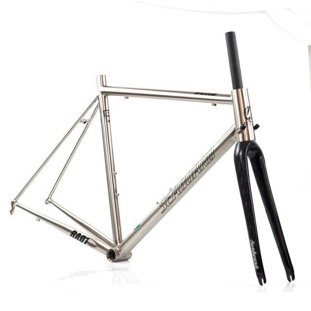 Seaboard CR MO Steel Road Bike Frame Carbon Fork 700C Classic Chrome ...