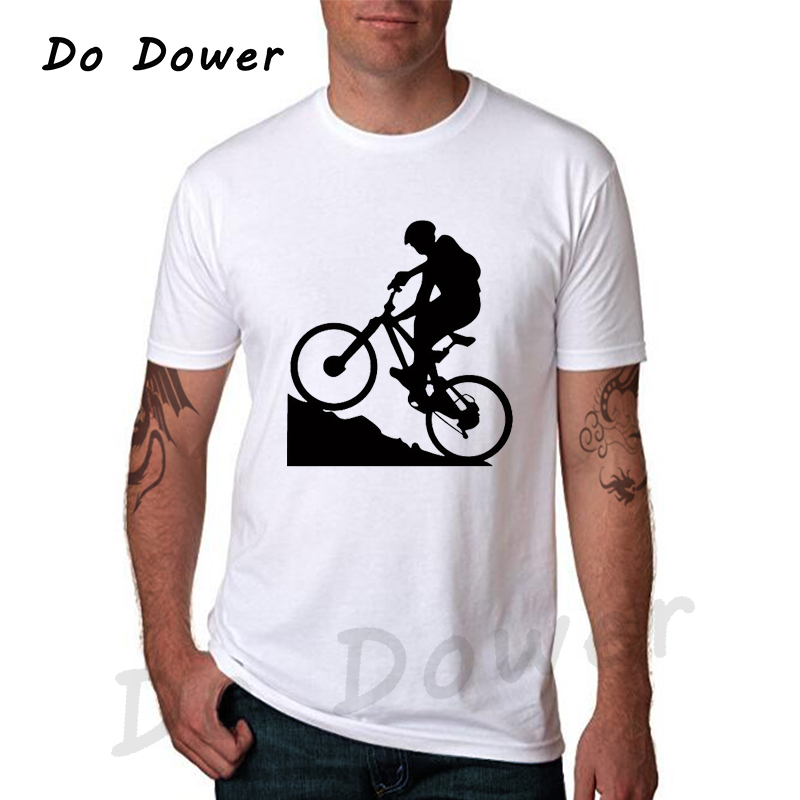 2018 Summer Fashion Mens T Shirt Mountain Biking Printing O-neck 100% Cotton Tshirt Camisetas Hip-hop Tee Casual 31 Colors