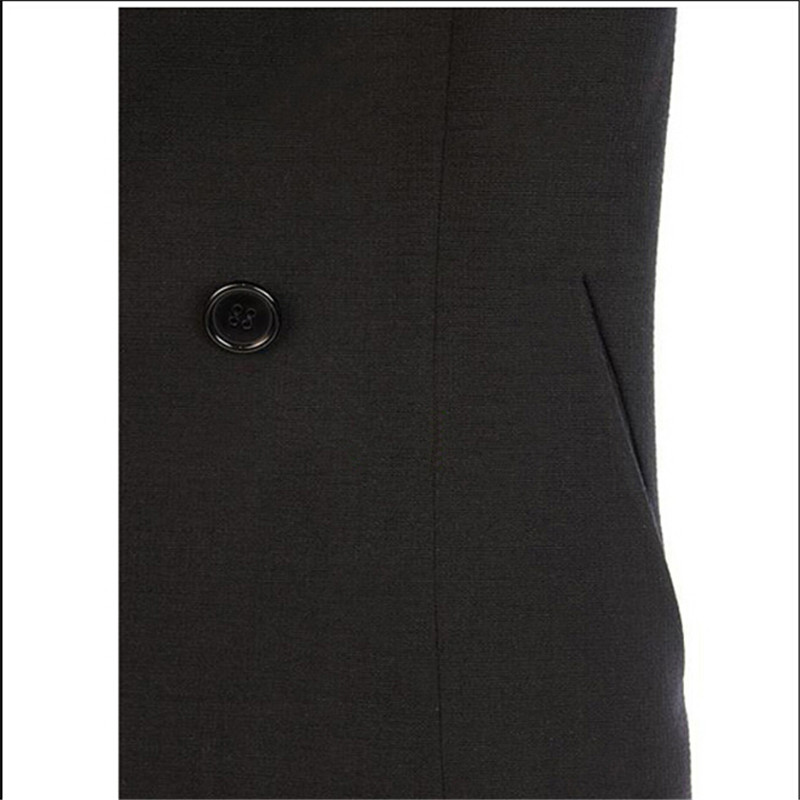 3955286cd57 US $19.83 15% OFF|Women Black Vest Double Breasted Formal Female Waistcoat  Vestes Sans Manches Ol Style Women Blazer Vest A3138-in Vests & Waistcoats  ...
