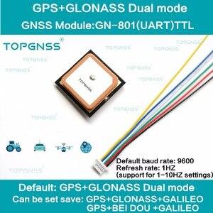Image 1 - 3.3 5V TTL UAR GPS modale GN 801 GPS GLONASS, récepteur dantenne pour Module M8n GNSS, FLASH intégré, NMEA0183 FW3.01 TOPGNSS