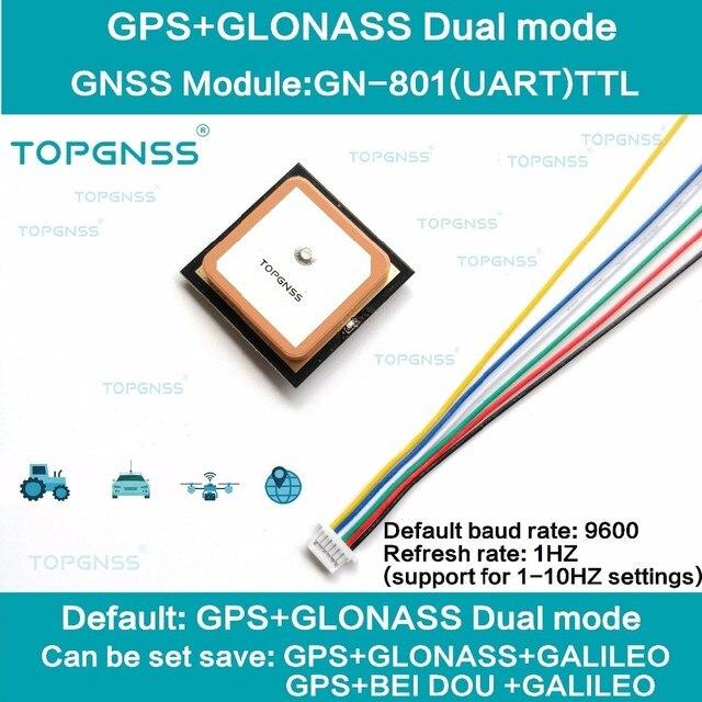 3.3 5V TTL UAR GPS modale GN 801 GPS GLONASS, récepteur dantenne pour Module M8n GNSS, FLASH intégré, NMEA0183 FW3.01 TOPGNSS
