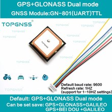 3.3 5v ttl uar gps modue GN 801 gps glonassデュアルモードM8n gnssモジュールアンテナ受信機、内蔵フラッシュ、NMEA0183 FW3.01 topgnss