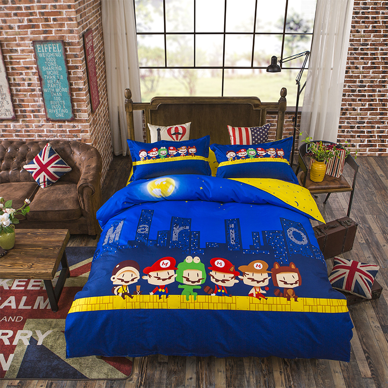 Mario Bed Sheets Queen