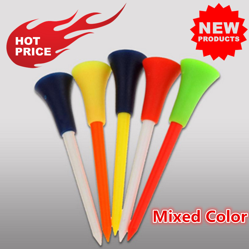 Golf Tees Plastic 70mm 83mm 54mm For Driving Range Mixed Color Durable Multi Rubber Cushion Outdoor Golf Tees 30/50 Pcs/Set