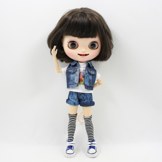 Neo Blythe Doll Outfit Jeans Shorts Legging