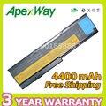 Apexway 4400 mah batería del ordenador portátil para lenovo asm 42t4537 fru 42t4536 fru 42t4538 para thinkpad x200 x200s x201 x201-3323 x201i x201s