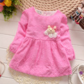 2017 New Girls Dress Flower Dance Party Pageant Spring and Autumn Baby Kids Clothing