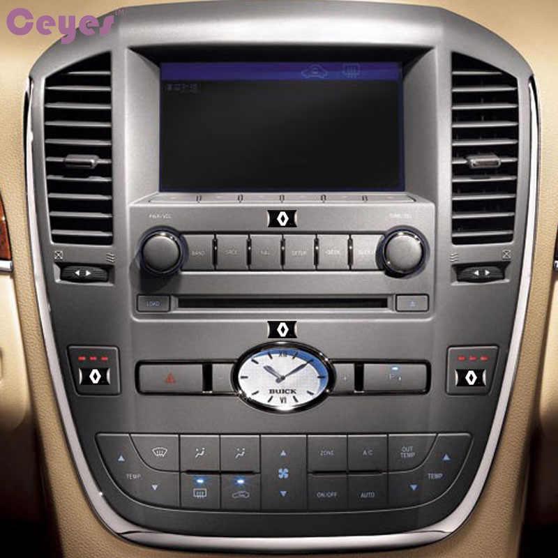 Voiture-style Auto Badge décoratif volant ajustement pour Renault Duster Megane 2 Logan Clio voiture emblème voiture style autocollant 50 pièces