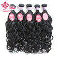Queen Hair Products Wholesale Malaysian Natural Wave 100% Unprocessed Tangle Free 5pc Malaysian Water Wavy Virgin Hair Extension