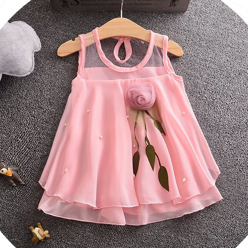 Fashion Summer Chiffon Baby Girl Dresses Newborn Baby Girls Party Princess Dresses Toddler Ball Gown Baby Clothing Kids Clothes