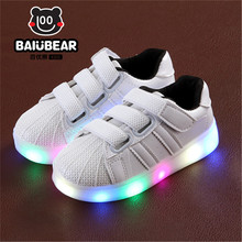 Children Shoes With Light Chaussure Led Enfant Spring Autumn New Cartoon Led Girls Shoes Sports Breathable Boys Sneakers Shoes