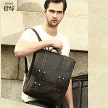 Famous Brand Genuine Leather Men Backpack Bags Large male Travel Bag Luxury Designer Leather School student Bag Laptop Backpacks