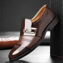 wedding dress suit formal shoes men loafers men slip on men dress shoes business shoes men oxford leather zapatos hombre vestir9(China)