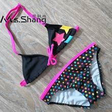 b0ca7be1f4 8-16 ans fille maillot de bain enfants belles étoiles imprimer adolescent  fille Bikini ensemble
