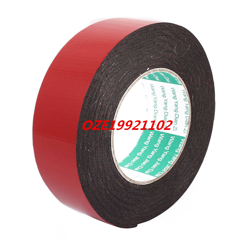 1PCS 40mm x 2mm Dual Sided Self Adhesive Shockproof Sponge Foam Tape 5M Length 10m 40mm x 1mm dual side adhesive shockproof sponge foam tape red white