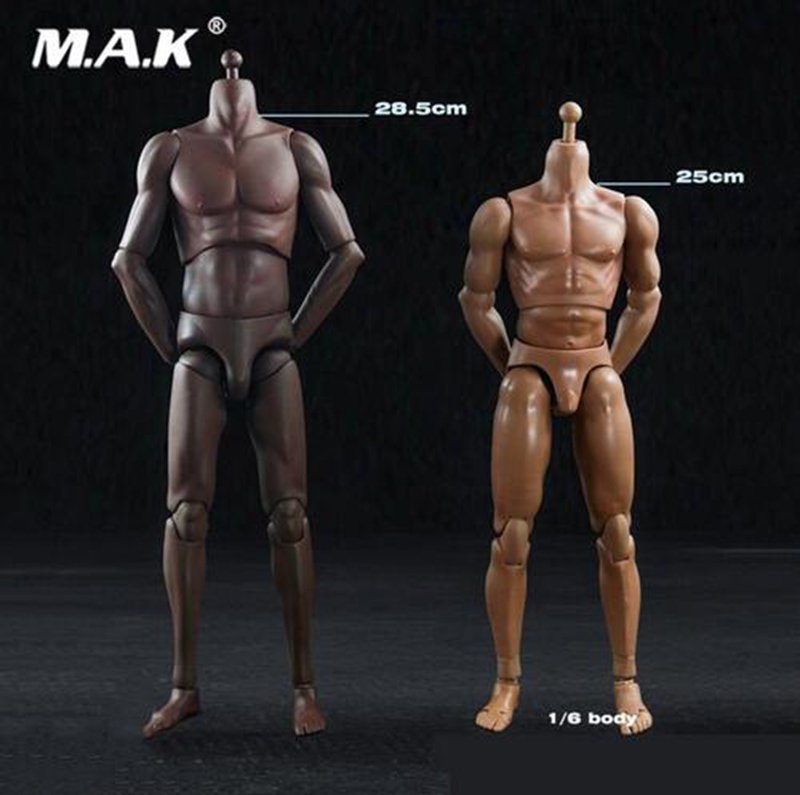 1/6 scale male man boy body super muscle sports light skin/dark skin slim body model toy for 1:6 basketball player head image