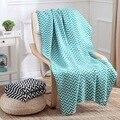 2017 Apressado Swaddle Cobertores Recém-nascidos de Alta Qualidade Malha infantil Ar Condicionado Cobertor Sofá Lance Knitting 130*170 cm
