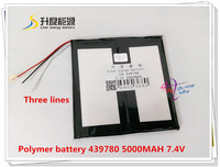 7 4V 5000mAH 439780 Polymer Lithium Ion Li Ion Battery For Tablet Pc GPS E Book