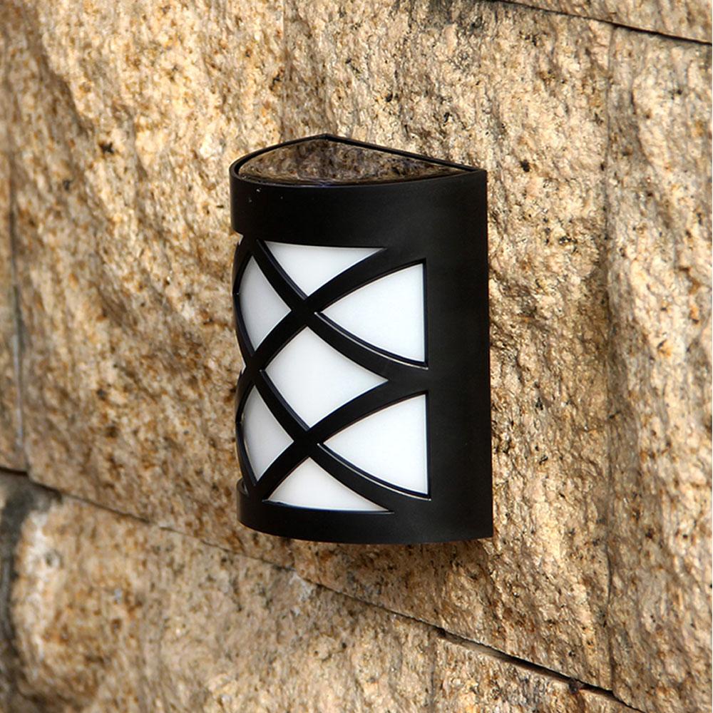 TRANSCTEGO LED solaire lampe extérieure jardin applique murale